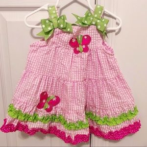 Other - Baby girl Pink & Green Butterfly Dress
